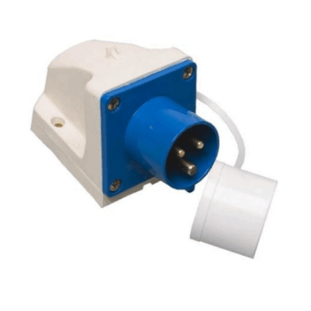 Mains 16A Inlet Surface Mounted