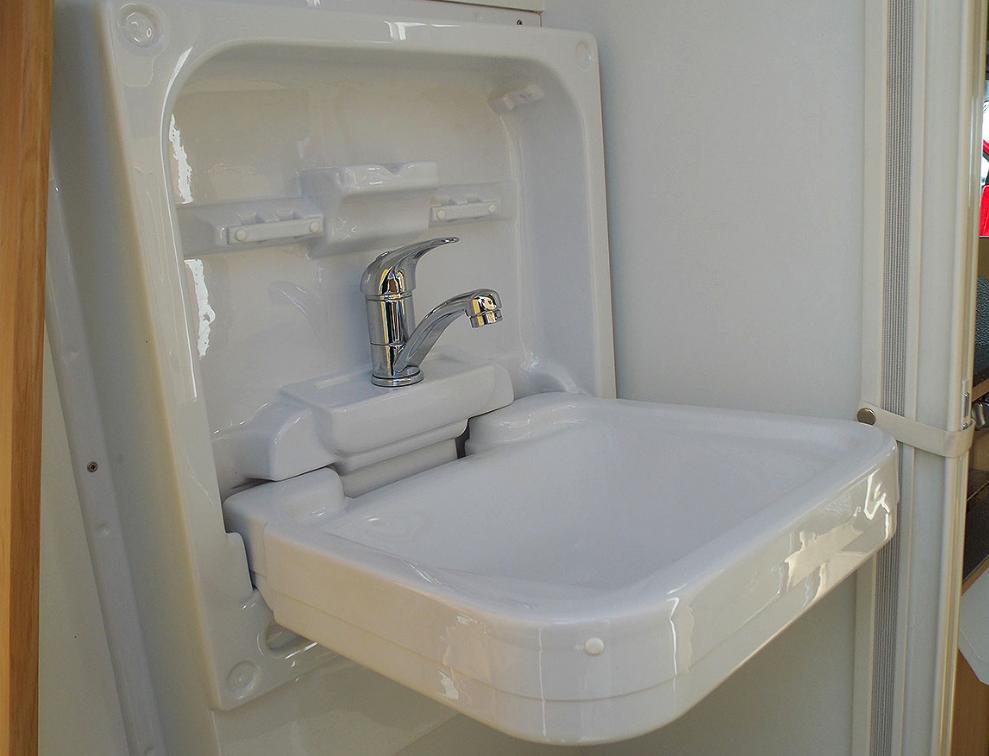 Cleo Tip Up Sink Wash Basin The Campervan Shop