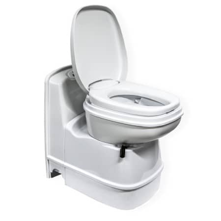thetford c223cs electric swivel toilet the campervan shop. Black Bedroom Furniture Sets. Home Design Ideas