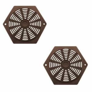 Pair of Hexagon 80mm Plastic Ventilators